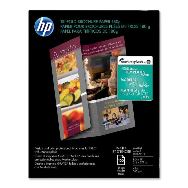 Hewlett packard c7020a hp tri fold for Hp tri fold brochure template