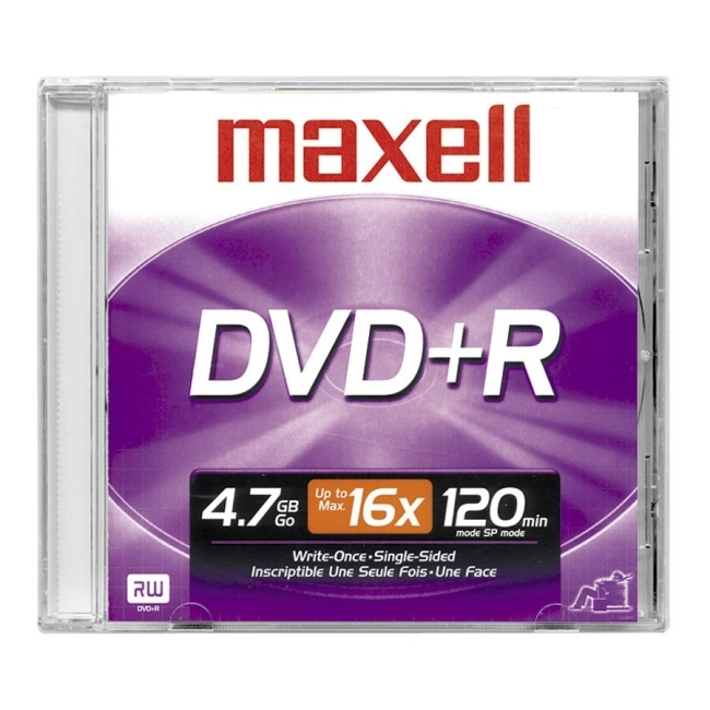 Maxell 639000 Maxell 16x DVD+R Media