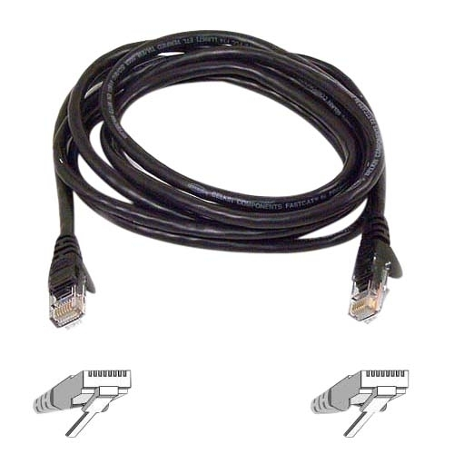 Belkin International, Inc A3L980B03-BLK-S Belkin Cat.6 Snagless Patch Cable