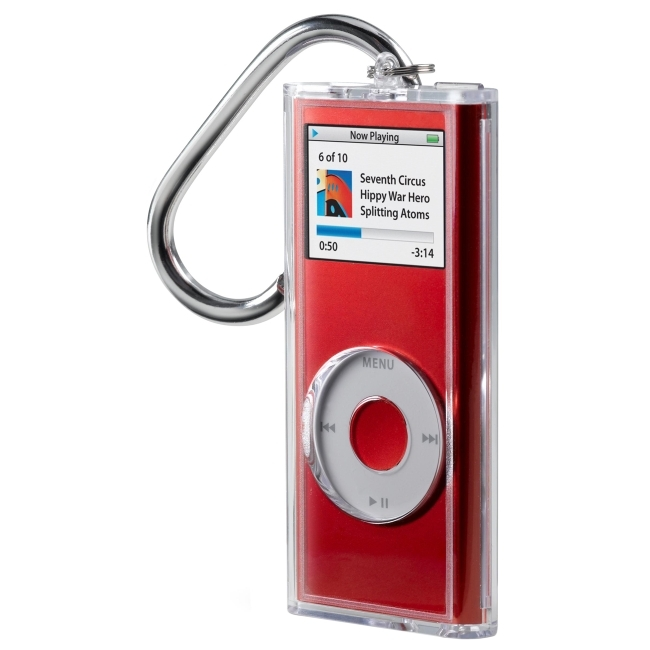 Belkin International, Inc F8Z130 Belkin Acrylic Case for iPod nano with Carabiner Clip