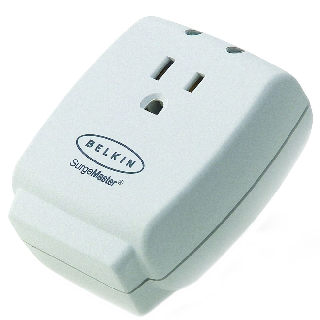 Belkin International, Inc F9H100ACW-DP Belkin 1-Outlet Surge Suppressor