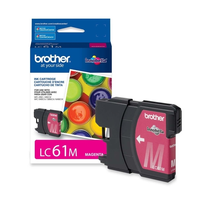 Brother Industries, Ltd LC61M Brother Magenta Ink Cartridge