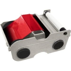 Fargo Electronics 44205 Fargo Resin Red Ribbon and Roller For DTC300 Printer