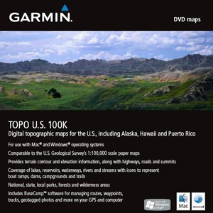 Garmin, Ltd 010-C1042-00 Garmin 010-C1042-00 TOPO U.S. 100K Digital Map