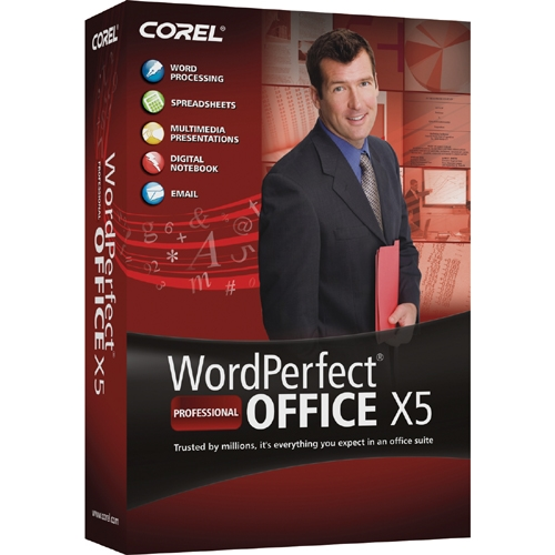 Corel Corporation WPX5PRENDVDUG Corel WordPerfect Office X5 Professional Edition - Upgrade Package - 1 User