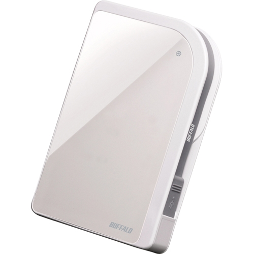 Buffalo Technology (USA), Inc HD-PXT500U2/W Buffalo MiniStation Metro 500 GB External Hard Drive - Pearl White