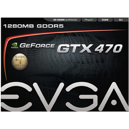 EVGA Corporation 012-P3-1470-TR EVGA 012-P3-1470-TR GeForce 470 Graphic Card - 607 MHz Core - 1.25 GB GDDR5 SDRAM - PCI Express 2.0 x16