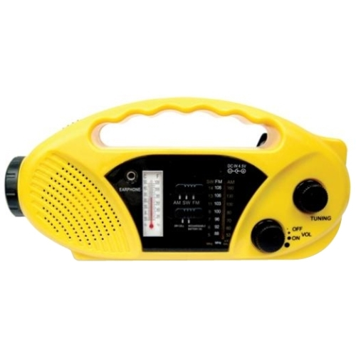Stansport, Inc 01-517 Stansport Hand Crank/Solar Battery Radio/Flashlight