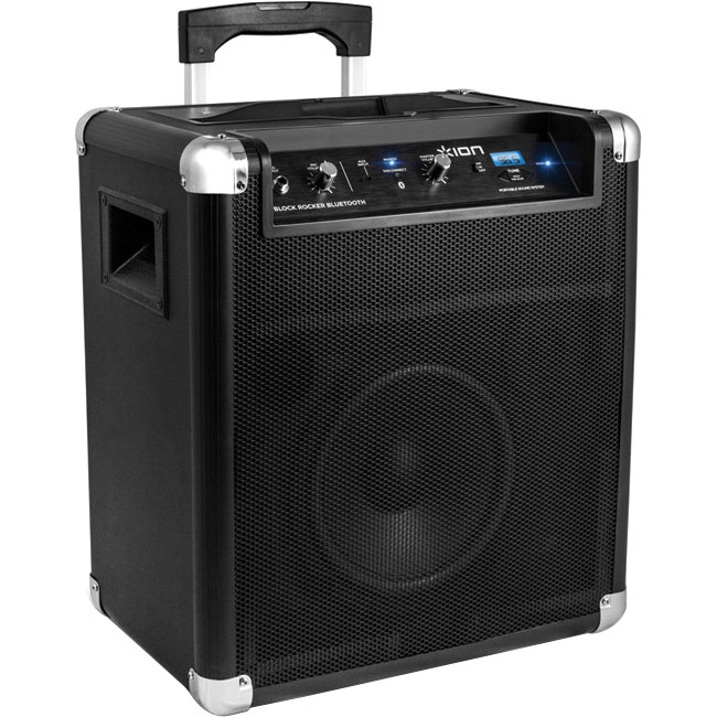 Ion Audio, LLC ION-BLOCK-ROCKER-BLUETOOTH Ion Audio IPA56 Speaker System - 18 W RMS - Wireless Speaker(s) - Black