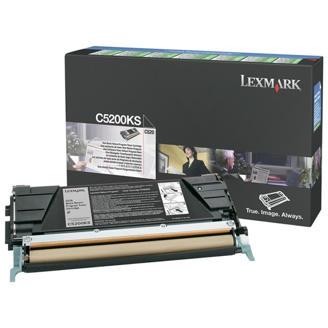 Lexmark International, Inc C5200KS Lexmark Black Return Program Toner Cartridge
