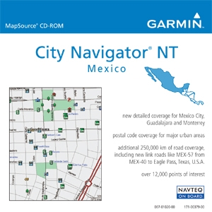 Garmin, Ltd 010-10755-00 Garmin City Select, Mexico NT Digital Map