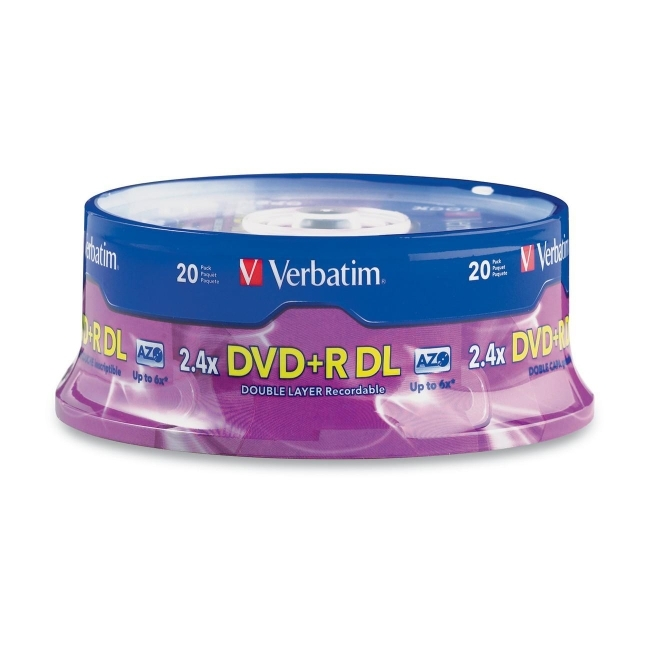 Verbatim America, LLC 95310 Verbatim 2.4x DVD+R Double Layer Media